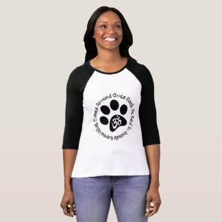 T-shirt Le karma soit aimable avec des animaux ce qui