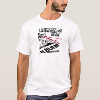 T-shirt le lazer de chat de clavier observe la chemise