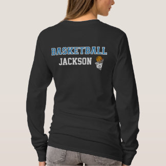 T-shirt Le lettrage bleu | de basket-ball personnalisent
