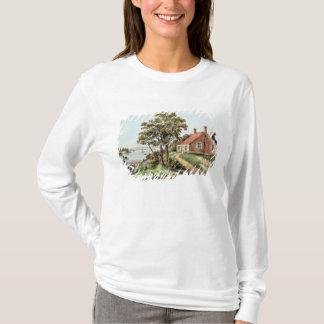 T-shirt Le lieu de naissance de Washington à la crique de