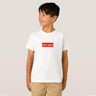T-shirt Le logo de boîte de nation de Chris badine le