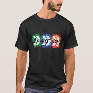 T-shirt Le logo de couleurs primaires et primaires