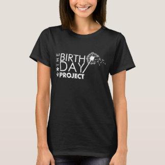 T-shirt Le logo de projet d'anniversaire noir et blanc