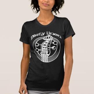T-shirt Le logo de toile sale classique des femmes