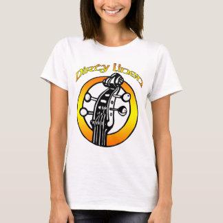 T-shirt Le logo de toile sale des femmes orange et jaune