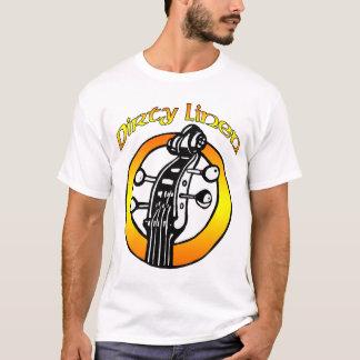 T-shirt Le logo de toile sale des hommes orange et jaune
