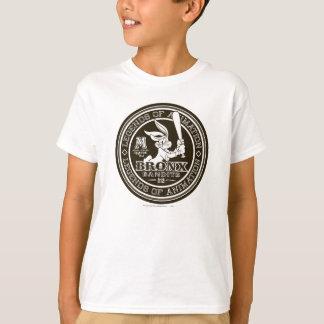 T-shirt Le logo rond B/W du bombardier de Bronx de ™ de