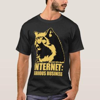 T-shirt le lolcat l'Internet est des affaires sérieuses