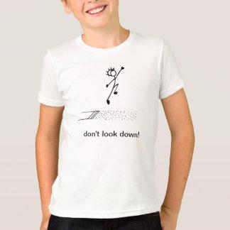 """T-shirt Le long saut """"ne regardent pas vers le bas !"""""""
