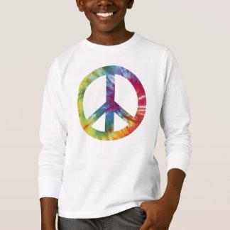 T-shirt Le long tee - shirt gainé de paix de l'enfant