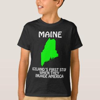 T-shirt Le Maine - l'Islande s'arrêtent d'abord quand ils