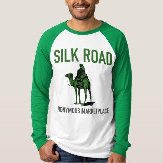 T-shirt Le marché de route en soie