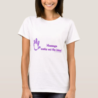 T-shirt Le massage établit les replis
