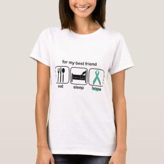 T-shirt Le meilleur ami mangent l'espoir de sommeil -
