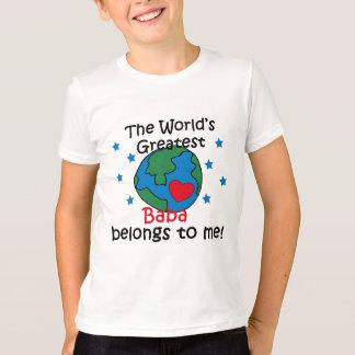 T-shirt Le meilleur baba appartient à moi