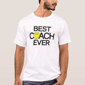 T-shirt Le meilleur blanc d'entraîneur du base-ball jamais