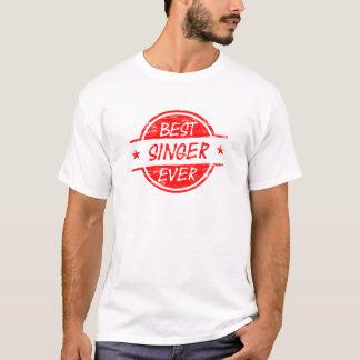 T-shirt Le meilleur chanteur toujours rouge