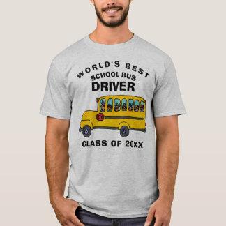 T-shirt Le meilleur chauffeur d'autobus scolaire du monde