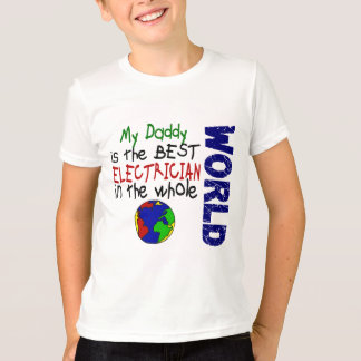 T-shirt Le meilleur électricien en monde 2 (papa)