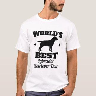 T-shirt Le meilleur papa de labrador retriever des mondes