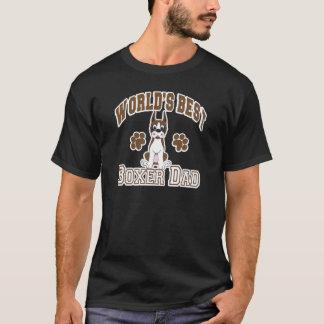 T-shirt Le meilleur papa du boxeur du monde
