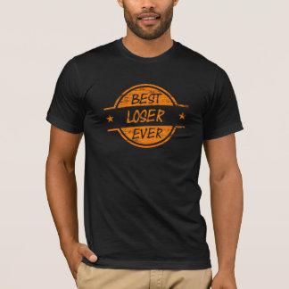 T-shirt Le meilleur perdant toujours orange