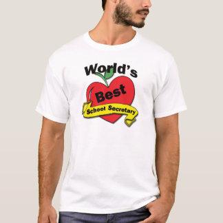 T-shirt Le meilleur secrétaire de l'école du monde