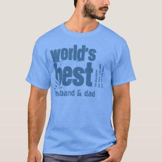 T-shirt Le meilleurs mari et papa X10 du monde