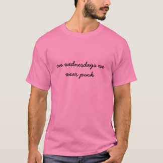 T-shirt le mercredi nous portons le rose