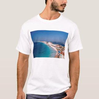 T-shirt Le Mexique, Cancun, vue aérienne des hôtels