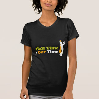 T-shirt Le mi-temps est notre bande de temps
