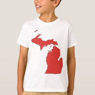 T-shirt Le Michigan : Un état ROUGE