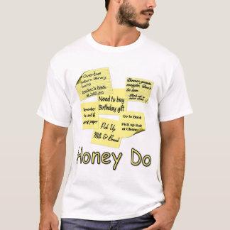 T-shirt Le miel font - des notes de post-it