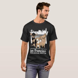 T-shirt Le militaire de carrière de Meetup de chiwawa de