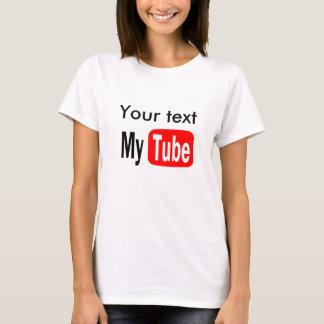 T-shirt Le modèle drôle de YouTube, le font vous-même,