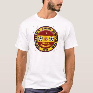 T-shirt Le monde 2010 de l'Espagne soutient le football du
