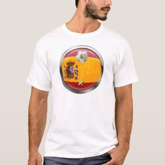 T-shirt Le monde 2010 de l'Espagne soutient les cadeaux