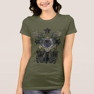 T-shirt Le monde de croix de la taille des femmes est ma