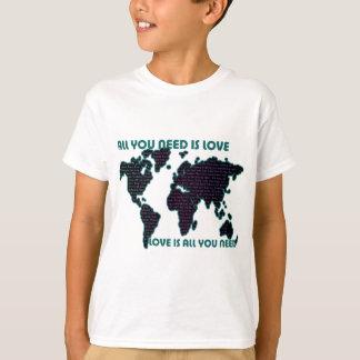T-shirt Le monde tout de Beatles que vous avez besoin est
