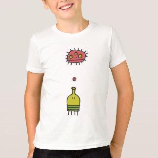 T-shirt Le monstre de saut de griffonnage badine le