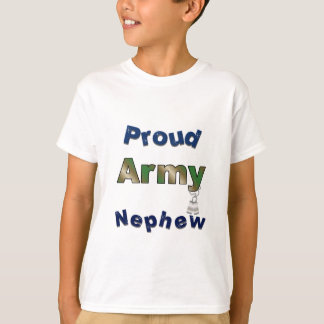 T-shirt Le neveu fier d'armée badine la pièce en t