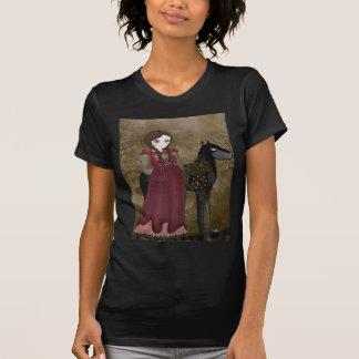 T-shirt Le noir mécanique fidèle de Steampunk de compagnon