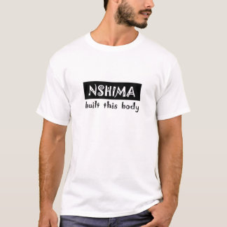 T-shirt le nshima a établi ce corps