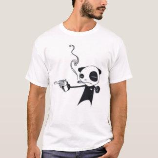 T-shirt Le panda de tabagisme a armé avec la pièce en t