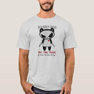 T-shirt Le panda d'homme exterminent le racisme