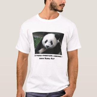 T-shirt Le panda ne connaît pas Kung Fu
