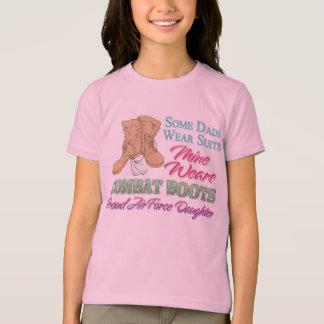 T-shirt Le papa porte la fille d'armée de l'air de bottes