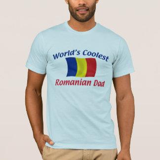T-shirt Le papa roumain le plus frais