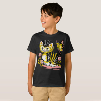 T-shirt Le papillon noir et jaune de Gato de chat badine