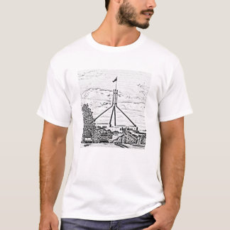 T-shirt Le Parlement australien - Canberra